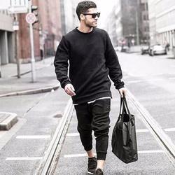 XENITH Men's Over-sized Black Sweatshirt