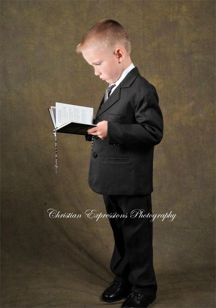 Boys First Communion Suit Black
