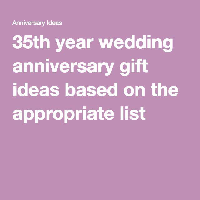 Best 25 35th wedding anniversary gift ideas on pinterest for 35th wedding anniversary gift ideas