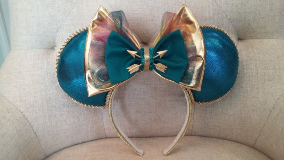 Inspired by your favorite Brave princess, these ears are sure to impress! They are very unique and would be the perfect accesory for your