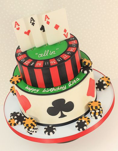 """""""All In"""" Poker Cake This is the type of cake I would like for my birthday <3"""