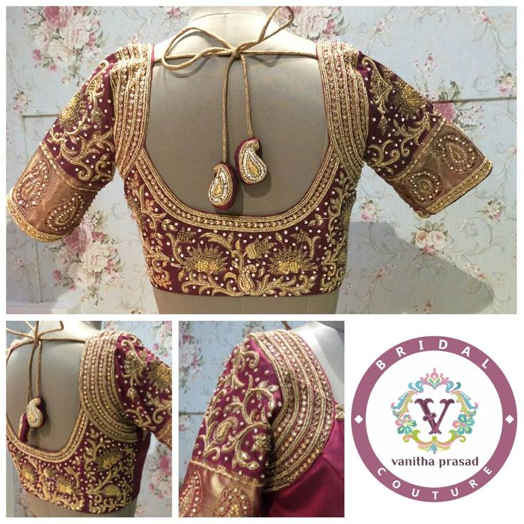 Wedding special   customised embellished blouse for one of our favorite  bride. 10 June 2016