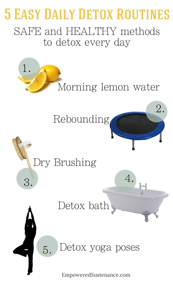 Get healthy with these daily detox routines that are safe and gentle!