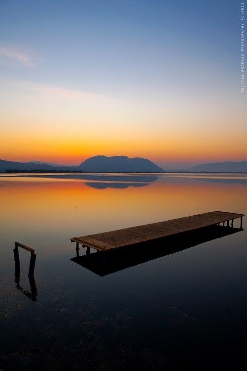 Sunrise in Messolonghi, Greece