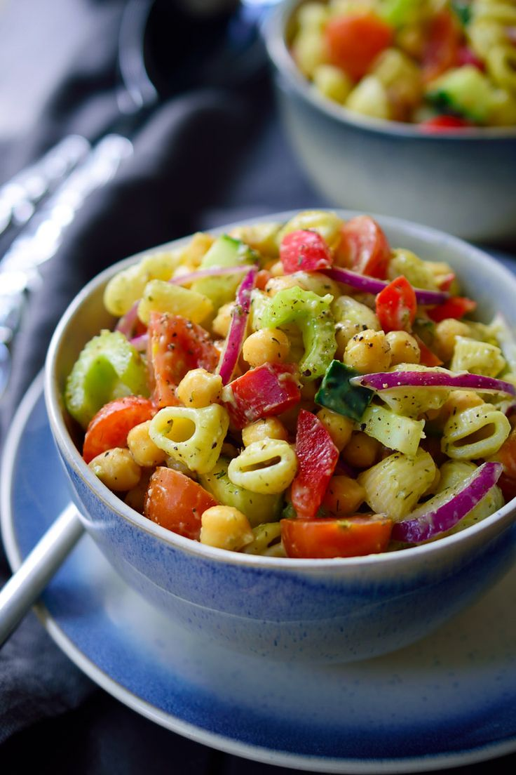 Vegan avocado pasta salad is a quick 15-minute recipe that can be prepped ahead …