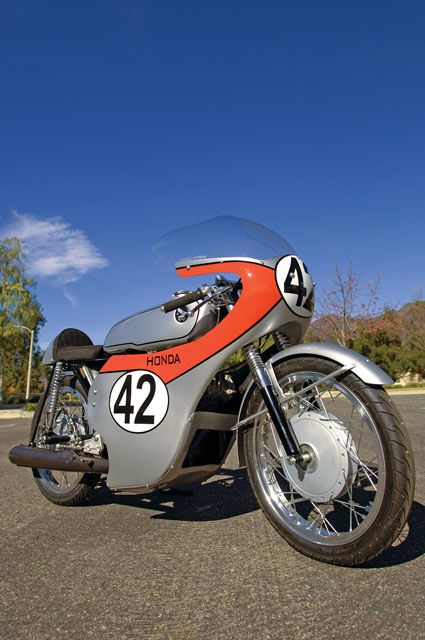 The 1963 Honda CR93 Benly production racer, from a history of Honda motorcycles. Photo by Gary Phelps, article by Greg Williams, Motorcycle Classics May/June 2011.