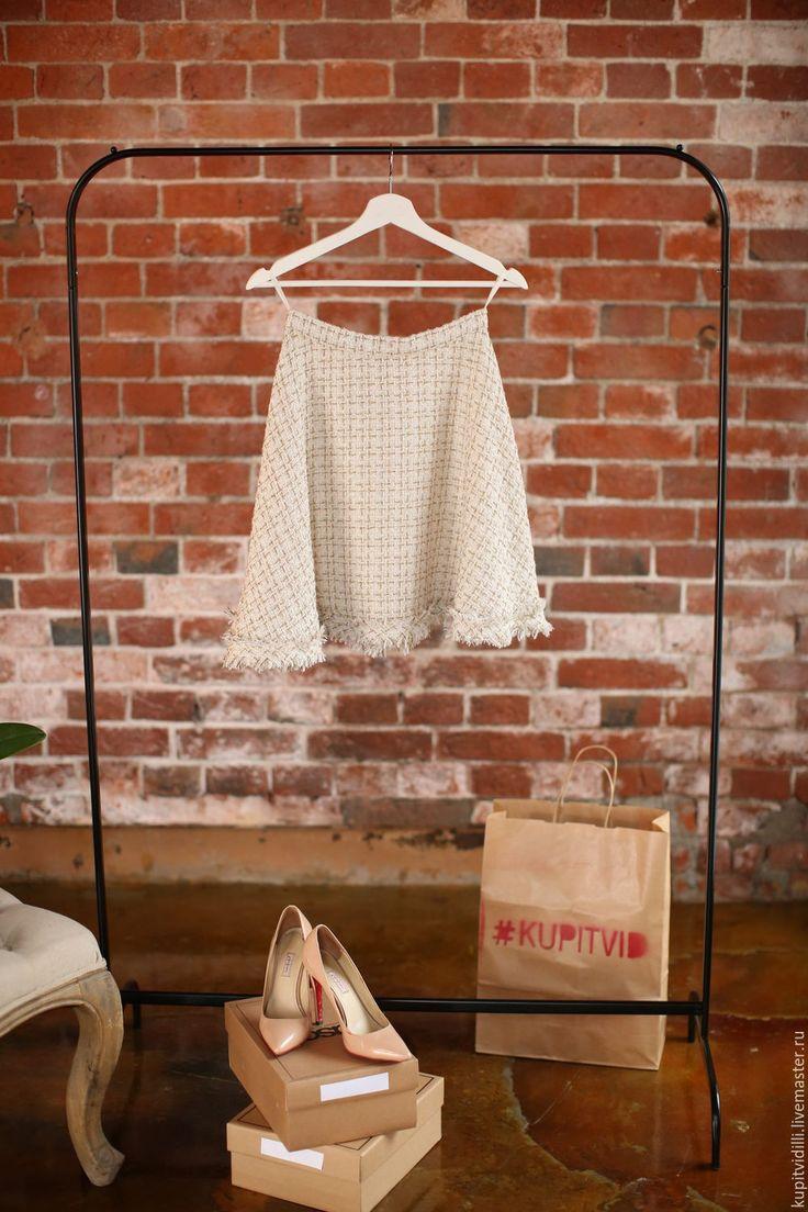 Купить Юбка из твида ILLI BABY DOLL - белый, в клеточку, юбка солнце, юбка, юбка из ткани букле, букле твидовый жакет - жакет из твида -  твидовая юбка - юбка из твида - твидовый костюм - костюм из твида - букле - твид -твидовое платье -платье из твида - фемили лук - family look