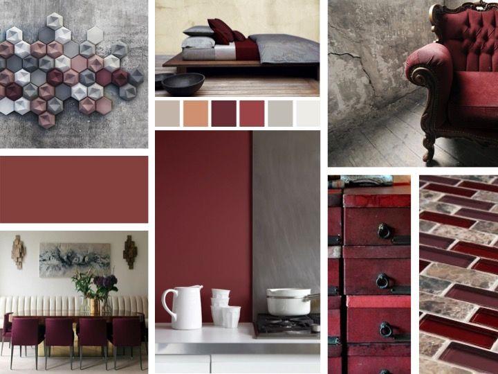 Marsala in interior design mood board