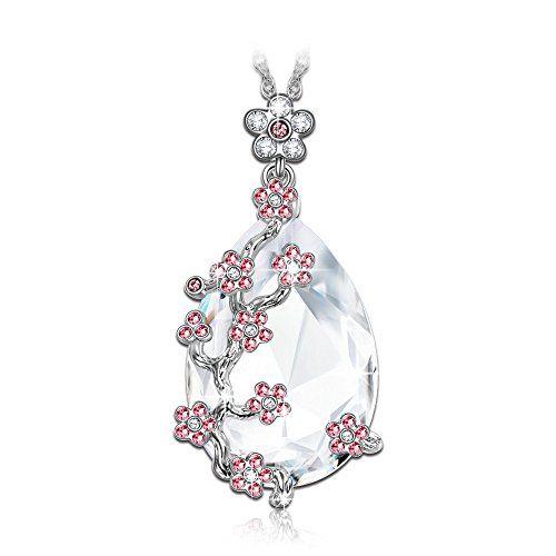 LadyColour Snow Queen Teardrop Necklace Swarovski Crystals