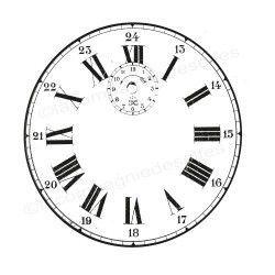 clock stamp | tampon horloge ancienne | tampon rétro montre