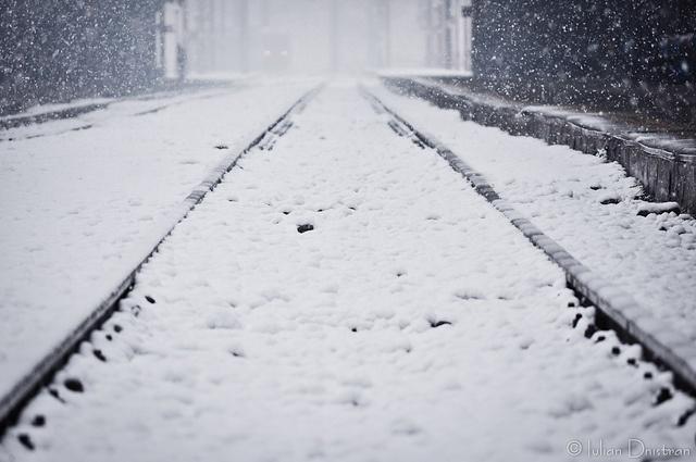 January snow in Bucharest