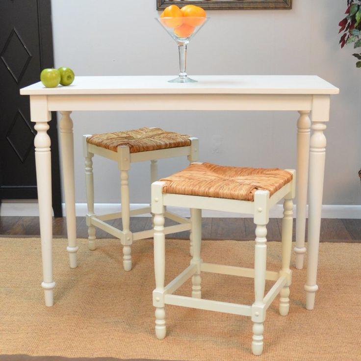 Carolina Hawthorne Bar Table - Antique White - VSBAR-MW