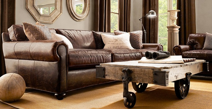 havertys distressed leather nailhead large sofa   12 best images about Sofa on Pinterest   Shop home ...