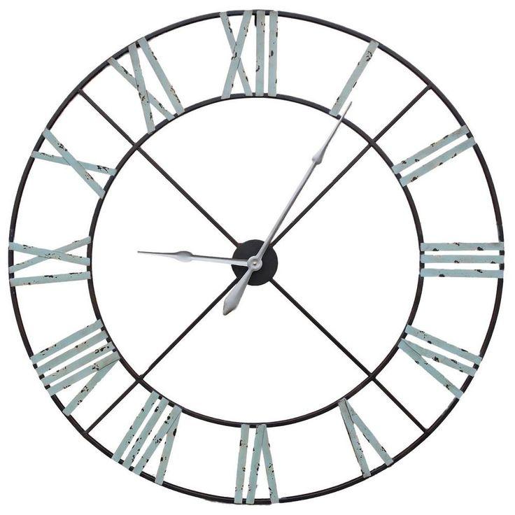 Extra Large Vintage Metal Wall Clock(110cm)