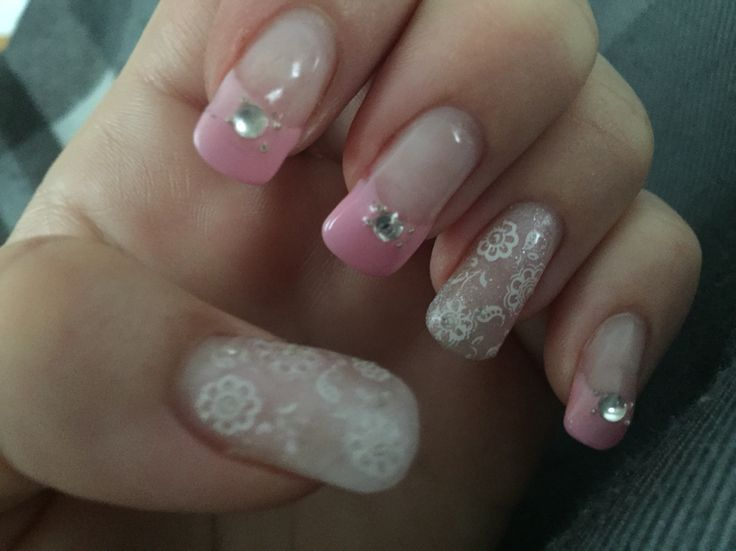 Pink & White Lace Gel