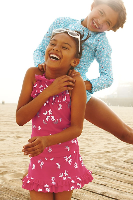 Lands' End Kids' Swim - Fits Better, Dries Faster, UPF 50 Sun Protection