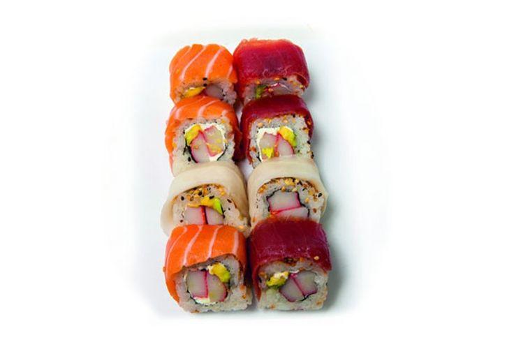 GOLDEN CALIFORNIA MAKI - Łosoś, tuńczyk, seriola