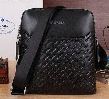 Prada Calfskin Leather Messenger Bag P66254 Black