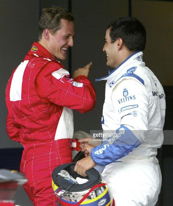 GP von ENGLAND 2002, Silverstone; QUALIFYING; Michael SCHUMACHER/GER - FERRARI -, Juan Pablo MONTOYA