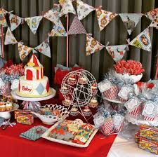 Image result for vintage circus baby shower
