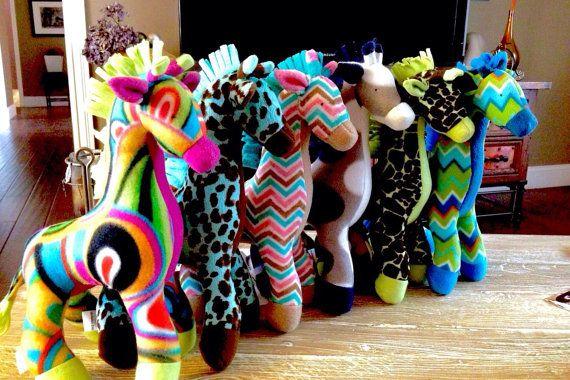 Stuffed Giraffe you design by MichellesZoo on Etsy