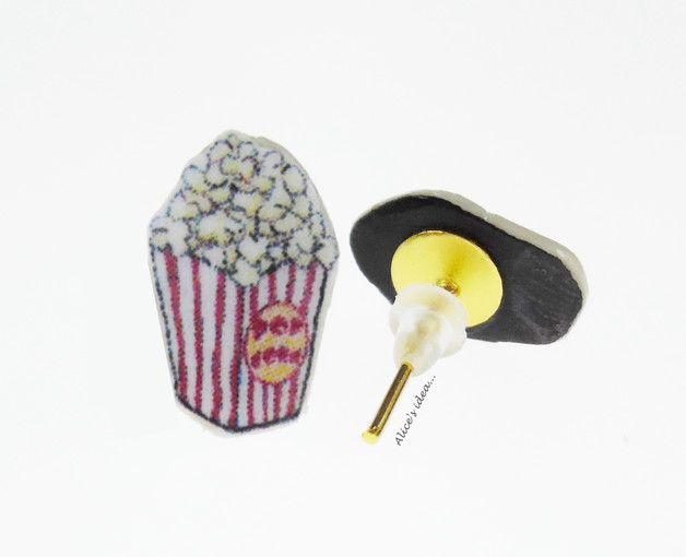 """Earrings ,,Popcorn""""... www.alicesidea.pl #earrings#popcorn."""