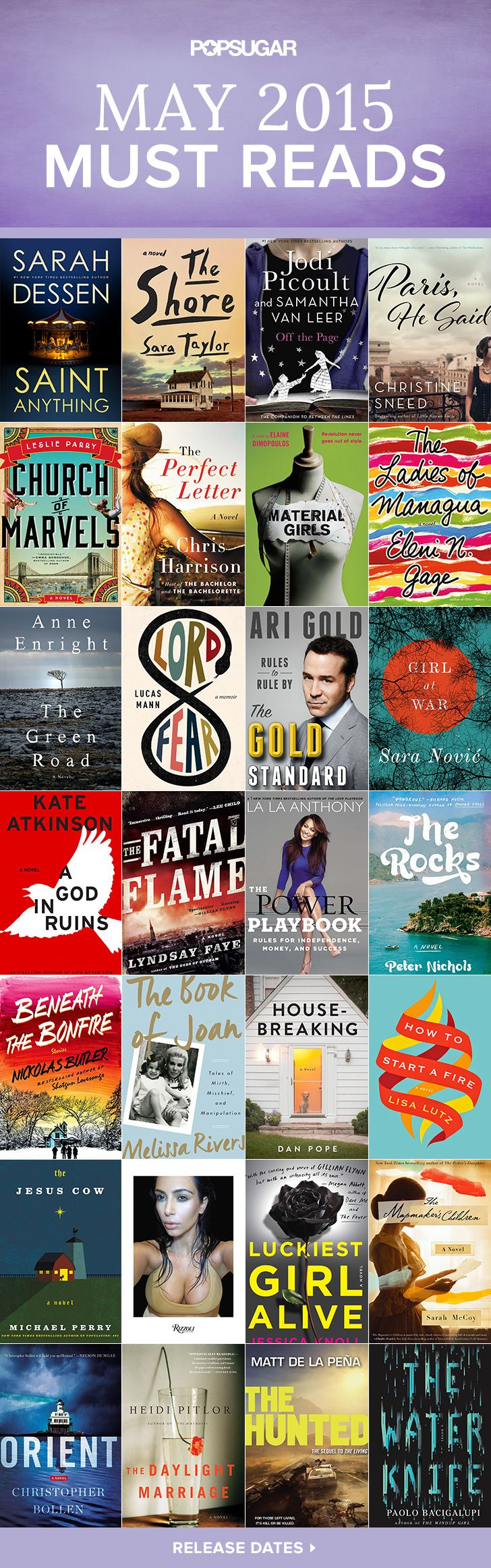 Need a new book for your reading list? Check out some of the best books coming out in May, including must-read novels and celebrity memoirs!