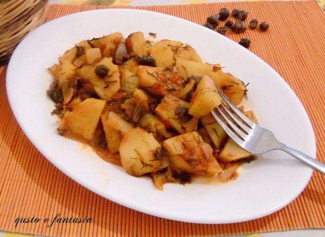 patate alla pizzaiola con finocchietto
