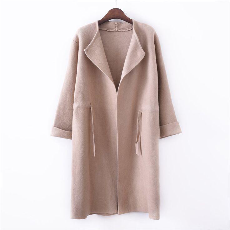 uvtt насыпью в длинной кардиган свитер толстый слой 2017 осень новый корейский дамы свитер ремень -tmall.com Lynx