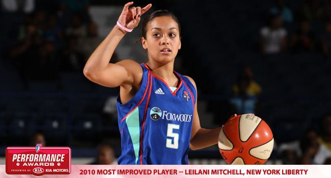 New York Liberty's Leilani Mitchell Named 2010 WNBA Most Improved Player of the Year