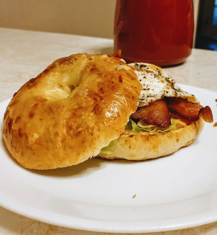[Homemade] Hangover cure: BLT on homemade jalapeno & 3 cheese bagel Food Recipes
