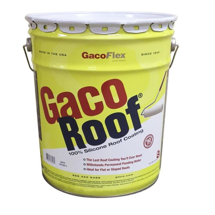 Gaco 5 Gallon Silicone Reflective Roof Coating 50 Year Limited Warranty Gacsrc5 In 2020 Roof Coating Roof Elastomeric Roof Coating