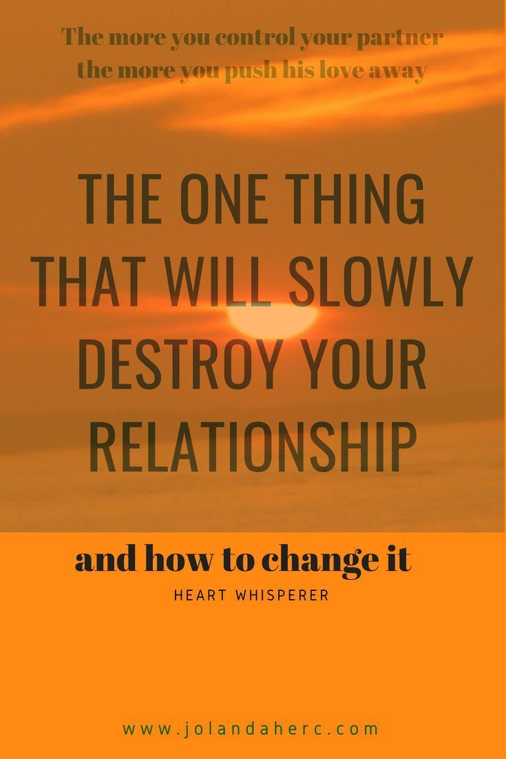 Too controlling in a relationship
