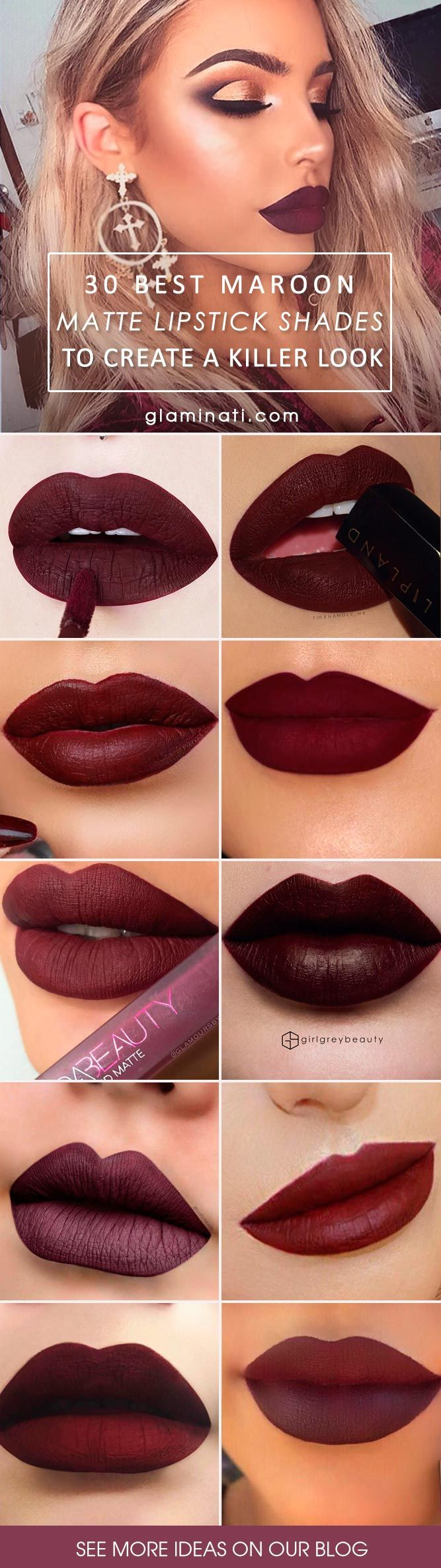Discover the best maroon matte lipstick shades to create a vampy and trendy look. Find out what to wear with it. You will be noticed with these bold lips.