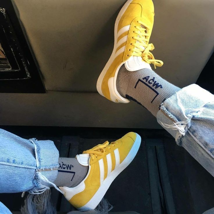 Yellow Adidas Gazelle