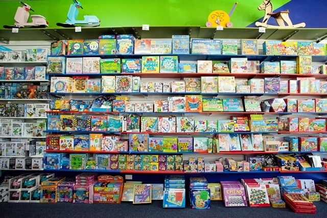 The mighty wall of games and craft kits! #entropy #games #craft