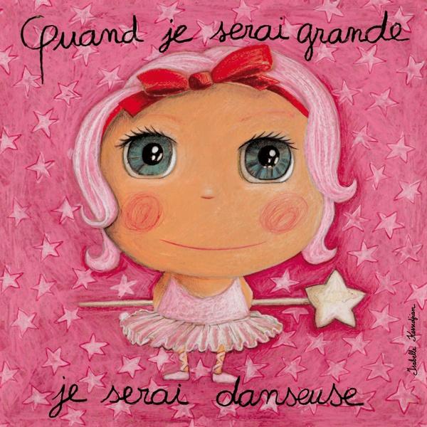 """Tableau """"Quand je serai grande je serai danseuse"""" Isabelle Kessedjian"""