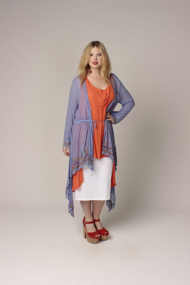 TCD spring 13 - bangkok duster, tux deluxe tunic and long labella. curvy summer fashion size 12 -24
