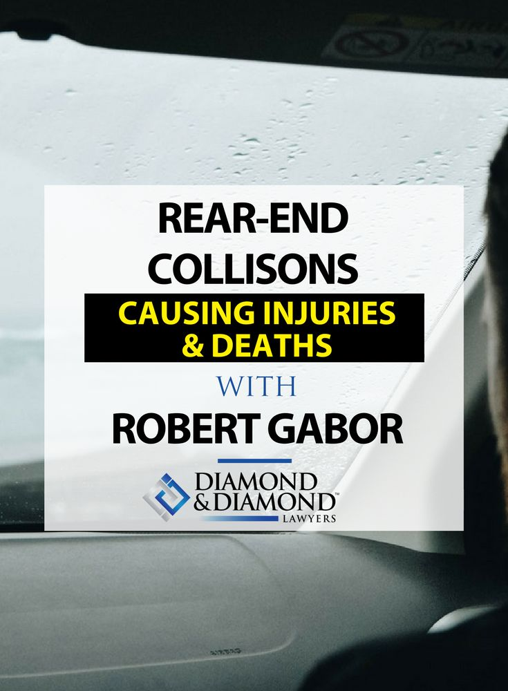 Robert Gabor shares common causes, common injuries sustained, and how to determine fault when a Rear End Collision occurs.