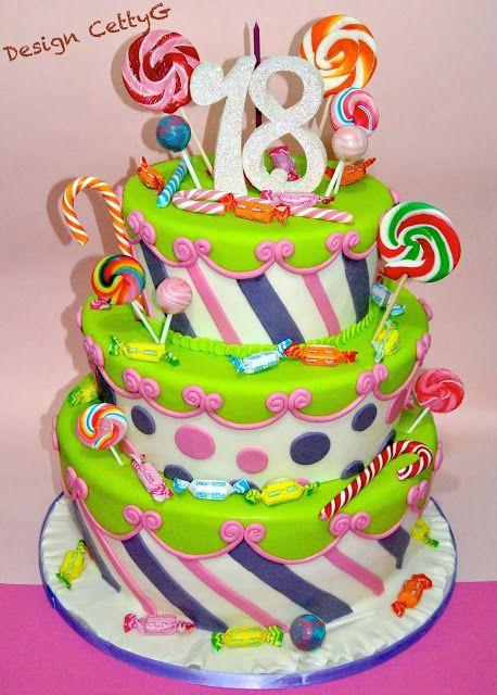 Le torte decorate di CettyG...: 18°compleanno Lollipop cake