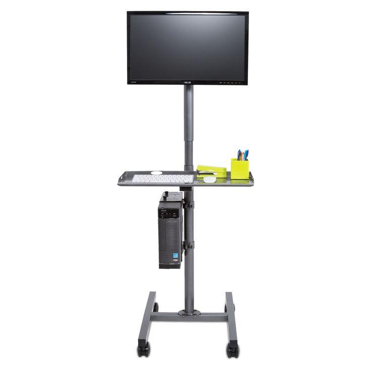 Versa Single Flat Screen Computer Cart