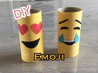 DIY EMOJI met Papier & wc rol knutselen voor kinderen. Bron: https://youtu.be/KH9QrPOkGuQ