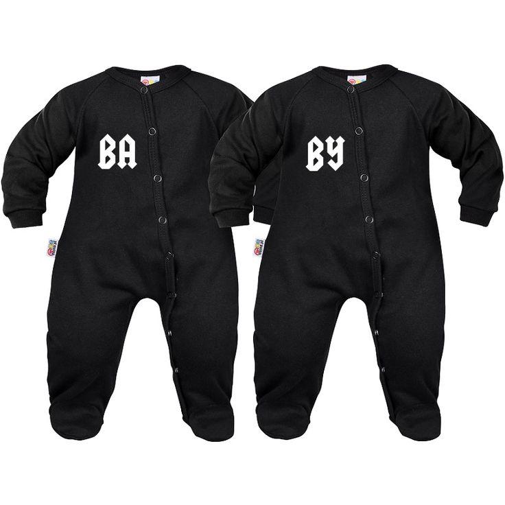 2 x pyjama bébé jumeaux : baby - Pyjamas bébé originaux - SiMedio