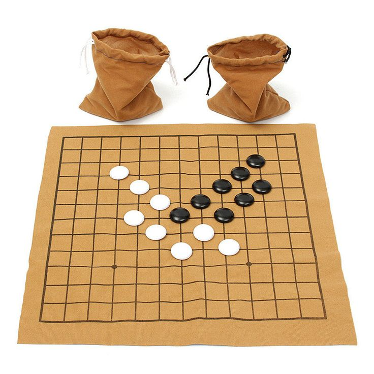 Hot Sale 90PCS Go Bang Chess Game Set Suede Leather Sheet Board Children Educational Entertainment Board Game #Affiliate