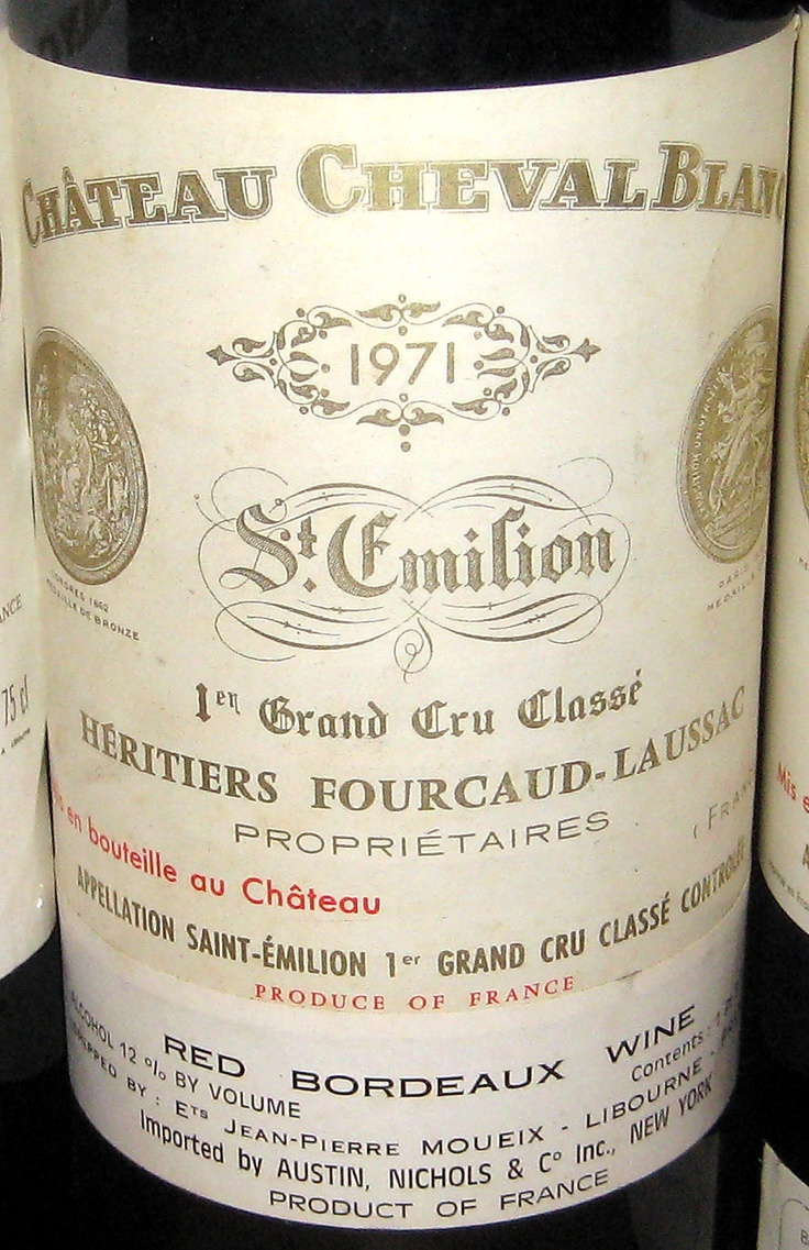 1971 Cheval Blanc #vin #wine #eWinesApp  My birthday gift ?...