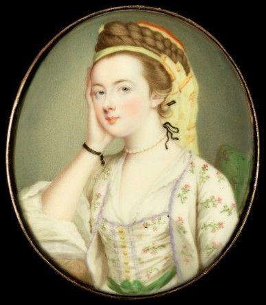 Miniature Portrait of Susannah Beckford (née Love) (died 1803) Painted by the artist Gervase Spencer (1715?-1763)