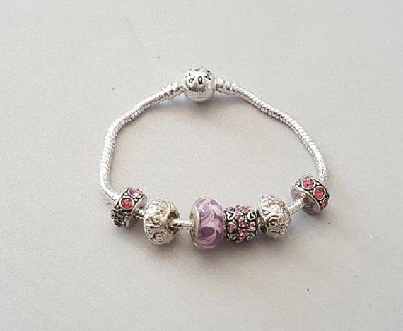 Épinglé sur bracelet murano et style pandora