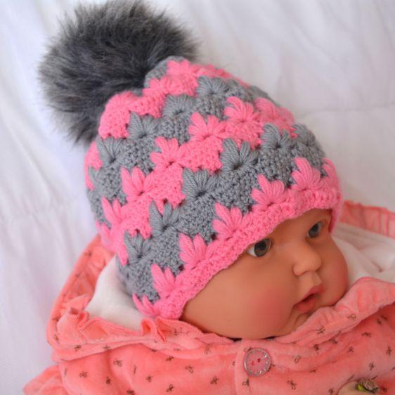 Tina's handicraft : Winter Hat Also called puff spike stitch = lush stitch