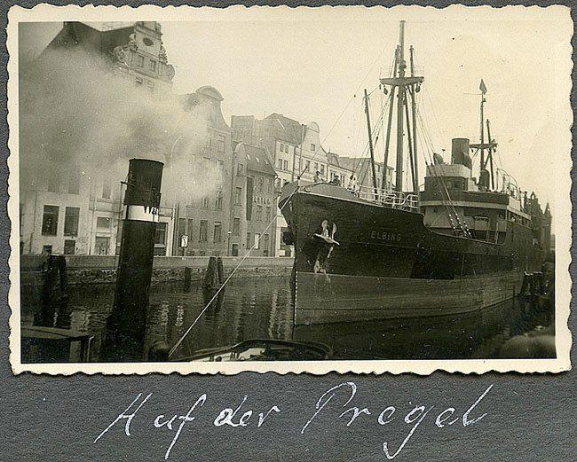Кёнигсберг (Калининград, Königsberg), Корабли на Прегеле, 1935.