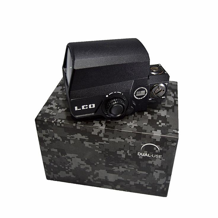 48.48$  Buy now - http://alifuu.shopchina.info/go.php?t=32807295192 - hunterking 2016 NEW Black Tactical Optic Holographic LCO Reflex 1X Red Dot Scope Sight Matte 1 MOA Dot 20mm Picatinny Rail 48.48$ #buyininternet